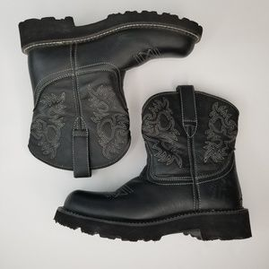 Women's Ariat Fatbaby Western Boots Size 9 Black
